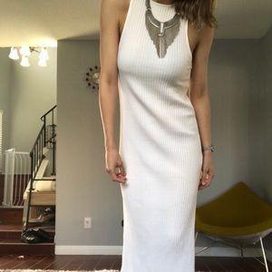 Ribbed midi/maxi dress